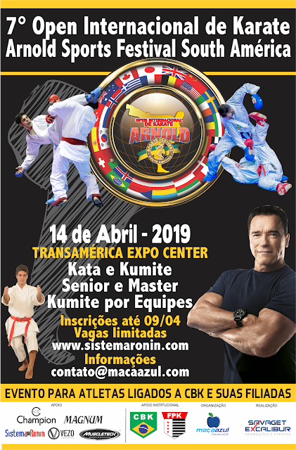 7º Open Internacional de Karate agita o Arnold Sports Festival South América